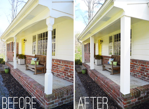 Updating Front Porch Posts Front Porch Columns Wood Porch Posts