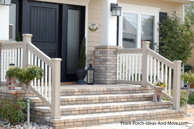 Porch Steps Designs And More   Exterior Front Stairs Designs   Curved   Simple   Front Look   Villa   1950 Bungalow