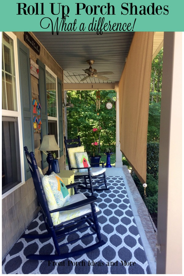 roll up porch shades for comfort and