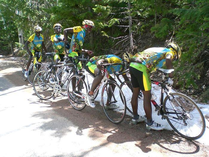Team Rwanda See Snow For The First Ever Time