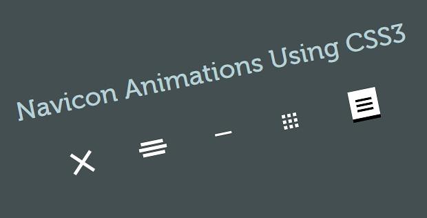 Hamburger or Navicon Menu Animations Using CSS3 and jQuery