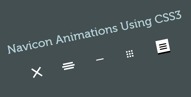 Hamburger or Navicon Menu Animations Using CSS3 and jQuery