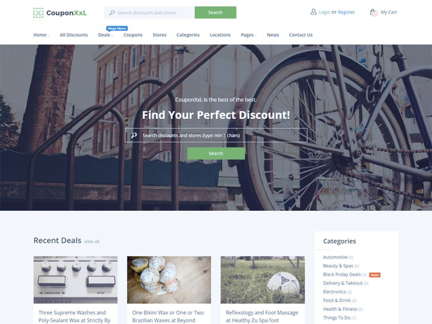 CouponXxl Affiliate WordPress Theme by Powerthemes