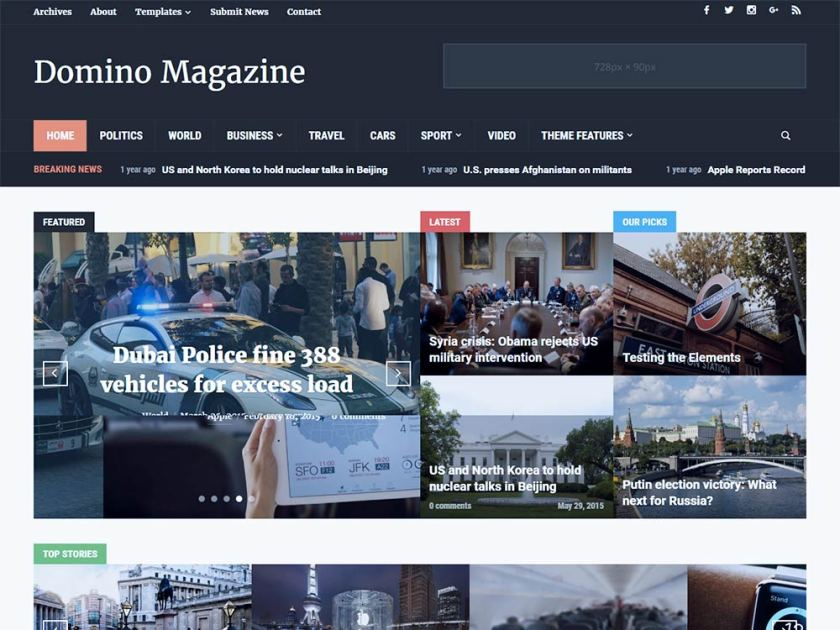 Domino Magazine Affiliate WordPress Theme by WPZOOM