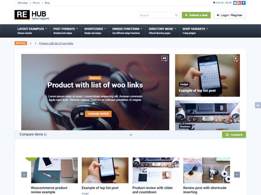 Rehub Affiliate WordPress Theme by Sizam