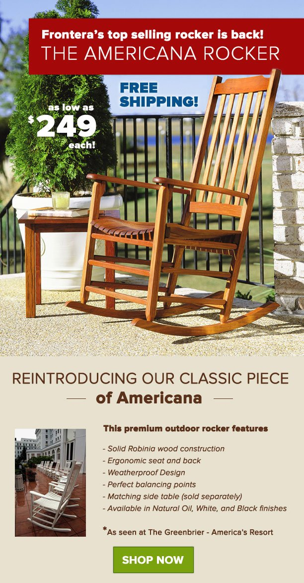 Frontera Outdoor Rocking Chairs Review
