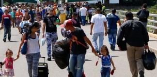 Gente migrantes venezolanos