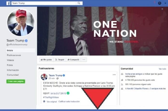 publicación Trump símbolo
