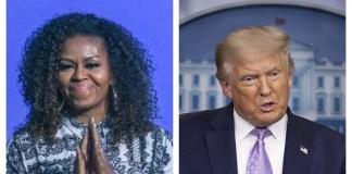 Michelle Obama y Donald Trump