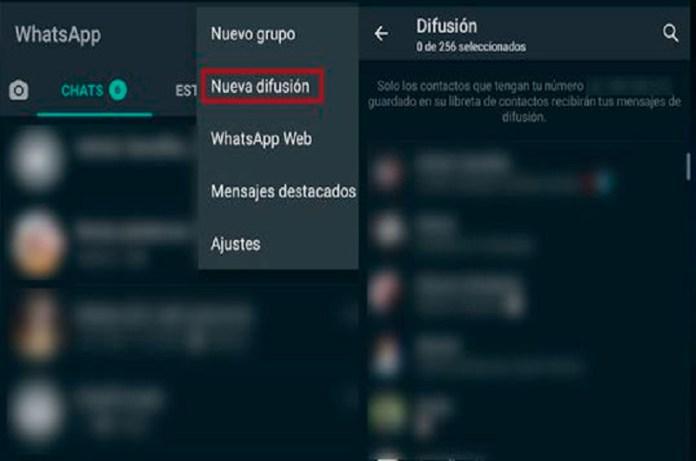 Lista de difusión WhatsApp