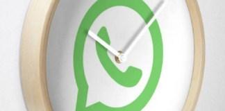 reloj WhatsApp