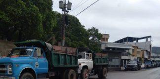 Cola del sector de los camiones