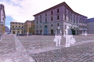 piazza Vittorio Emanuele II vista da via cintia
