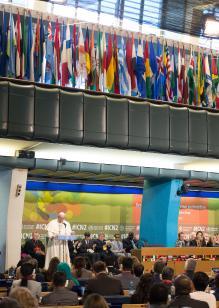 Papa Francesco alla sede della FAO 02