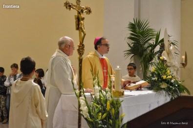 Mons Domenico Pompili a San Michele Arcangelo (Messa) 29 settembe 2015 foto Massimo Renzi 14