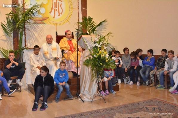 Mons Domenico Pompili a San Michele Arcangelo (Messa) 29 settembe 2015 foto Massimo Renzi 16