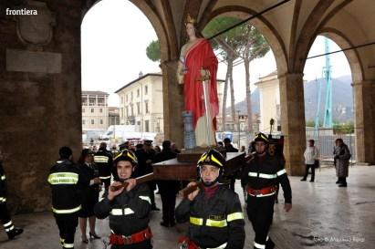 Santa Barbara nel Mondo Messa 4 dicembre vigili del fuoco foto Massimo Renzi 02