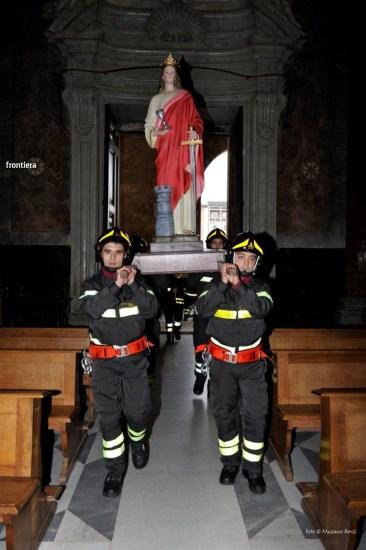 Santa Barbara nel Mondo Messa 4 dicembre vigili del fuoco foto Massimo Renzi 03