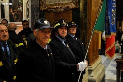 Santa Barbara nel Mondo Messa 4 dicembre vigili del fuoco foto Massimo Renzi 13