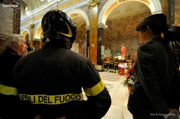 Santa Barbara nel Mondo Messa 4 dicembre vigili del fuoco foto Massimo Renzi 16