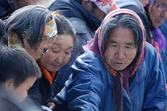 Woman at culture festival in Lavrentiya, Chukotka Region