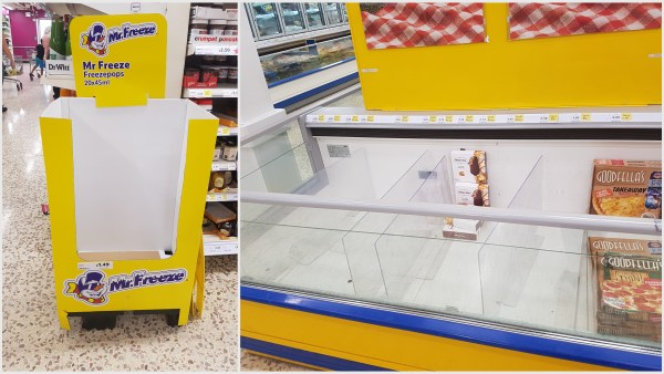 Effects of the Heatwave, out of stocks promotional sell outs