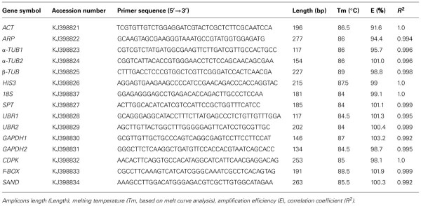 Frontiers Characterization of reference genes for RT