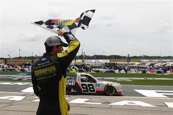Tracking the Trucks: Grant Enfinger Snags Last-Lap Victory in Atlanta