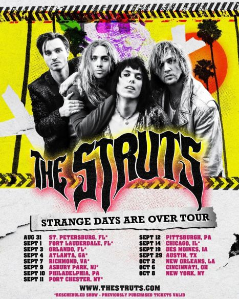 The Struts announce 'Strange Days Are Over' tour dates | FrontView Magazine