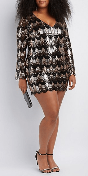 40 Plus Size Sequin Dresses For The Holidays 2017 Fro Plus Fashion