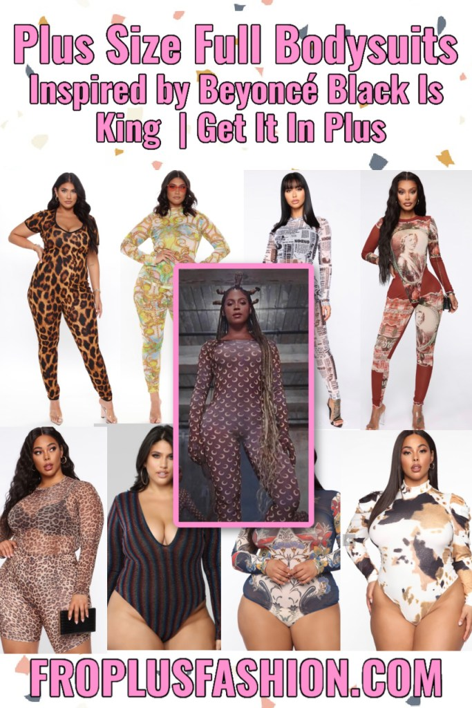 Plus Size Full Bodysuits Beyonce Black Is King Inspired _ Get It In Plus
