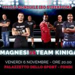Il prossimo 6 novembre la boxe internazionale in provincia di Latina.