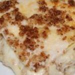 Lasagne con gorgonzola e noci.