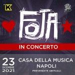 FOJA in concerto a Napoli presso Casa della Musica. Dopo due anni la band torna s suonare dal vivo. Unica data live del 2021.
