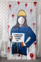SICUREZZA SUL LAVORO: LA DENUNCIA DELLA STREET ARTIST LAIKA.