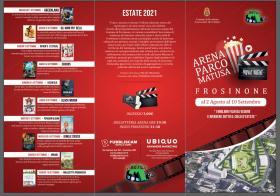 Frosinone, Arena Matusa: Cinema sotto le stelle dal 2 agosto. Il programma.