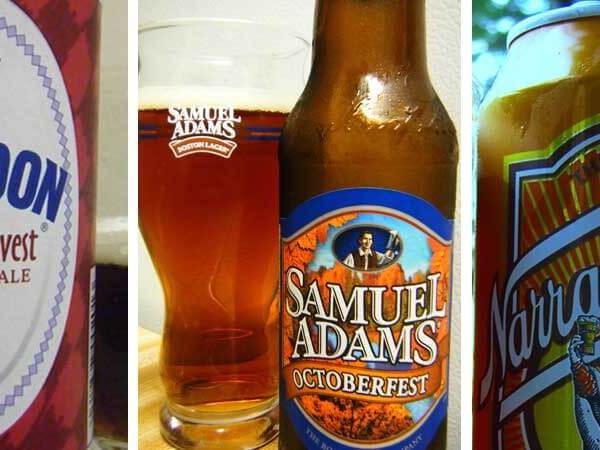 Photo collage of craft beer