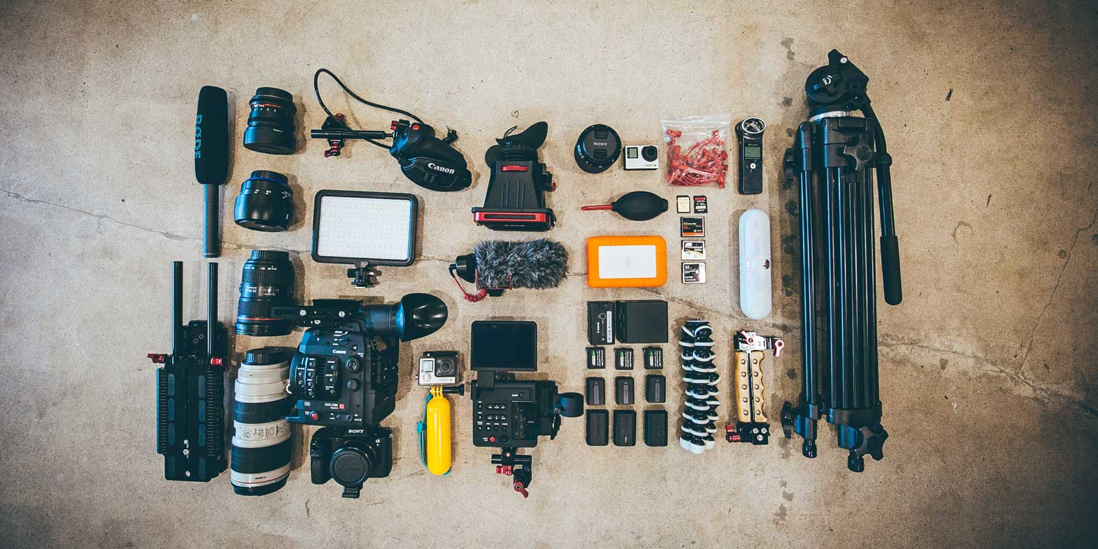 Don't show up to a Disney World park with a photography kit like this. No one needs this much gear for a day at the park. Security will obviously think you're there to get photos and footage for commercial purposes. Check out this post for a quick and easy guide to the camera rules at Disney World.