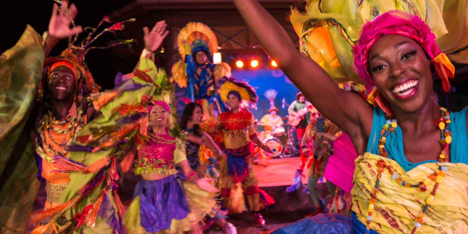 Join the Carnivale fun at Animal Kingdom. Just one of many activities adults might enjoy at Disney World.