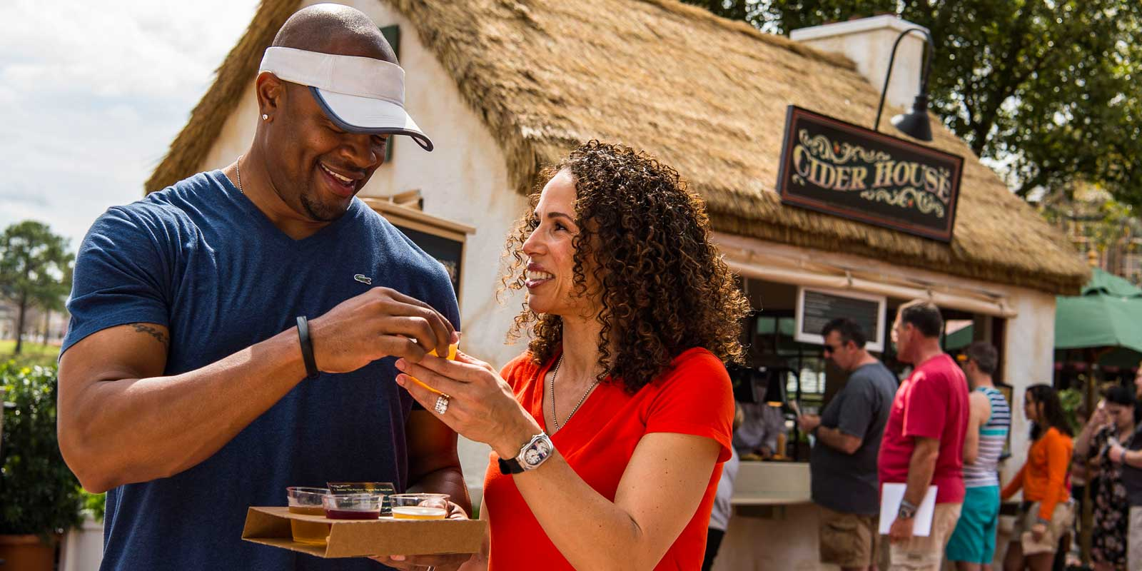 Sample delicious beer at the Epcot International Food & Wine Festival.