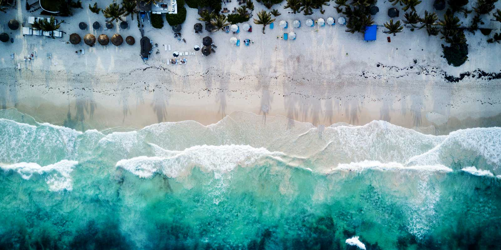 Get awesome aerial photos like this beach scene with a photography drone.