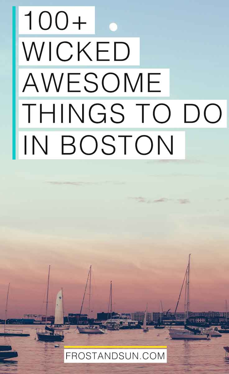I've lived in Boston, MA for over 15 years. Check out my local's guide to over 100 wicked awesome things to do in Boston. #boston #massachusetts #usa #newengland