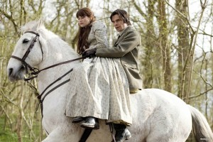 Gemma Arterton and Hans Matheson as Tess and Alec in BBC's 2008 TV serial adaptation of the novel.