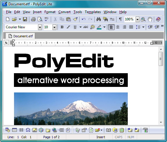 polyedit screenshot