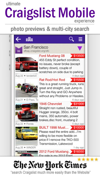 cPro Craigslist Mobile client_screenshot