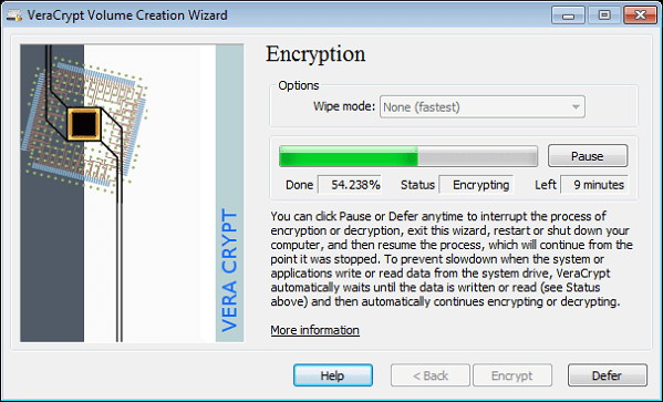 veracrypt screenshot