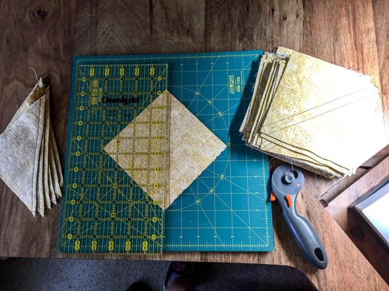 Pinwheel quilt cuts