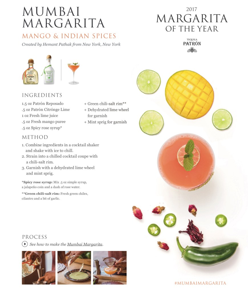 Patron, Patron Tequila, Patron Margarita of the Year, 2017 Margarita of the Year, Margarita
