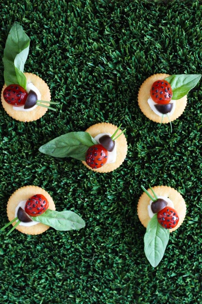 ritz crackers, caprese, recipe, childrens party