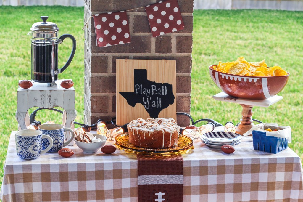 football, tailgating, tablescape